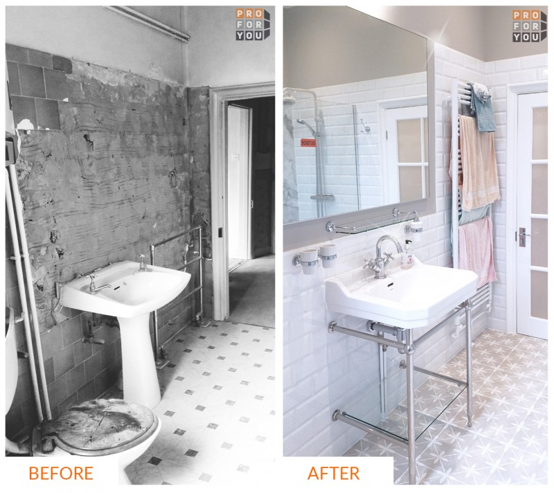 bathrooms renovations before after